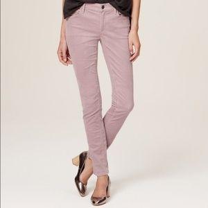 Ann Taylor Loft Lilac Corduroy Modern Slim Sz 8